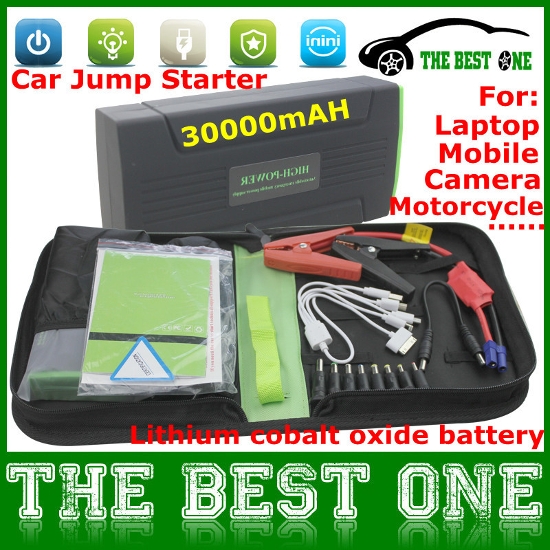 Multi-Function Mini Portable Car Jump Starter 30000mAh Start 12V Car Engine Emergency Battery Power Bank Fast Charge Post Free(China (Mainland))