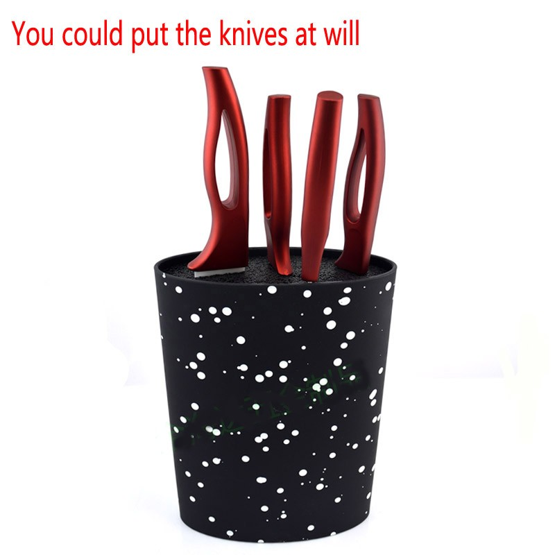 Buy Free Shipping 2015 16X22CM Oval shape plastic universal knife holder for  knife with black nylon insert, kitchen knife stand cheap