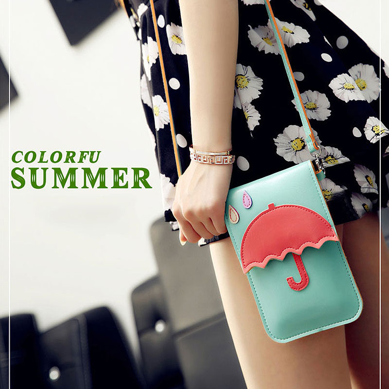 Fashion Cartoon Touch Screen Fashion Shoulder Messenger Bag Ladies Halter Neck Wallet Mini Phone Cases for iPhone Water Proof(China (Mainland))