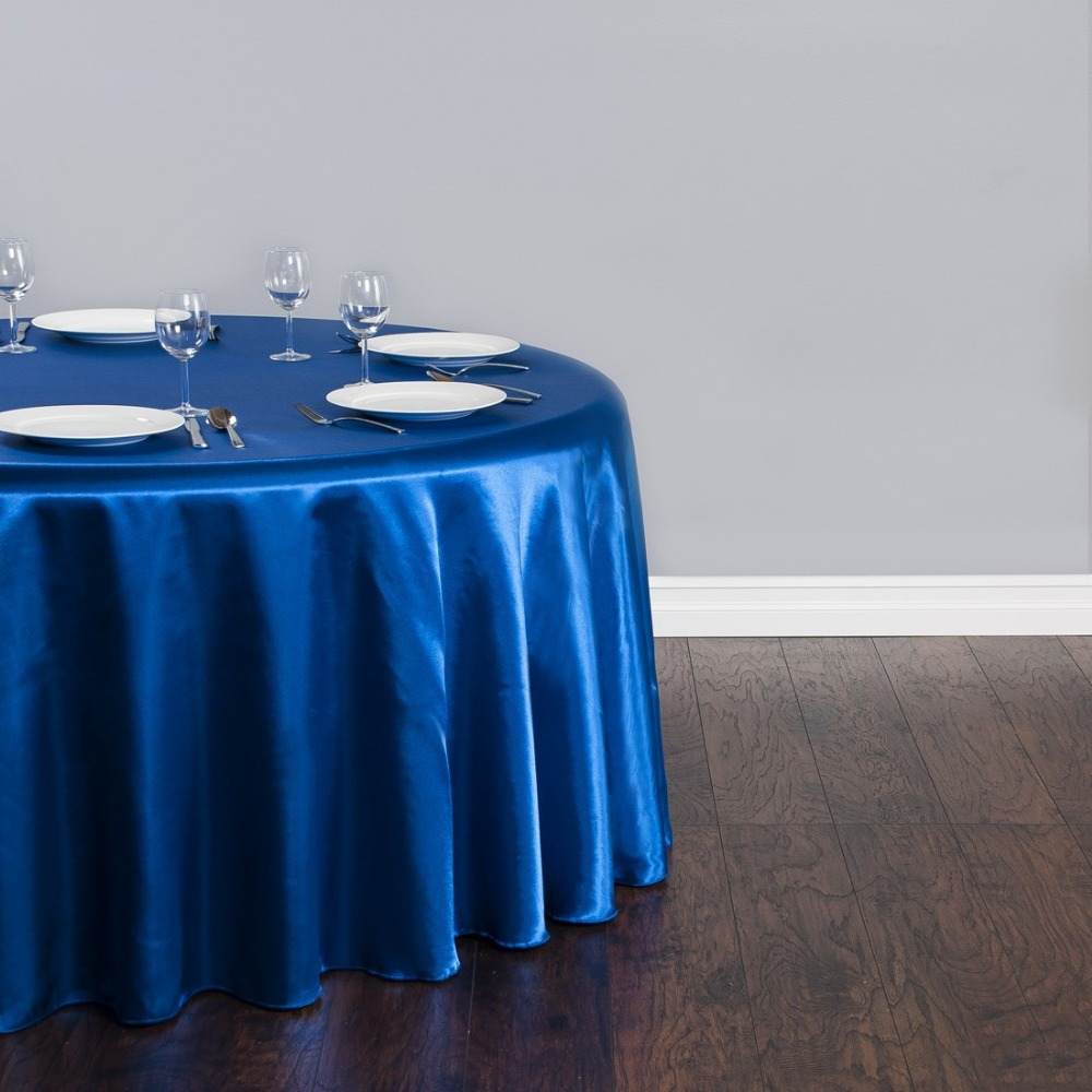 Fedex IE 118 in./300cm Round Satin Tablecloth Blue for Wedding Event Banquet Party 20/Pack(China (Mainland))