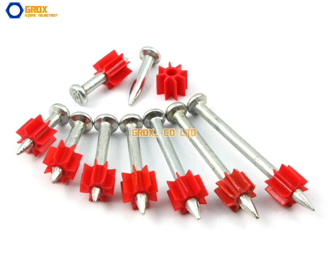 100 Pieces 3.5 x 37mm Steel Concrete Drive Pin Nail(China (Mainland))