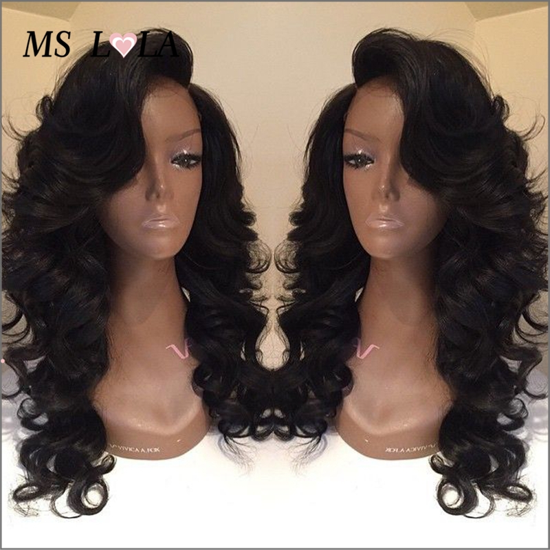 Glueless Brazilian body wave full lace human hair wigs with bleach knots baby hair Brazilian full lace wigs for black woman<br><br>Aliexpress