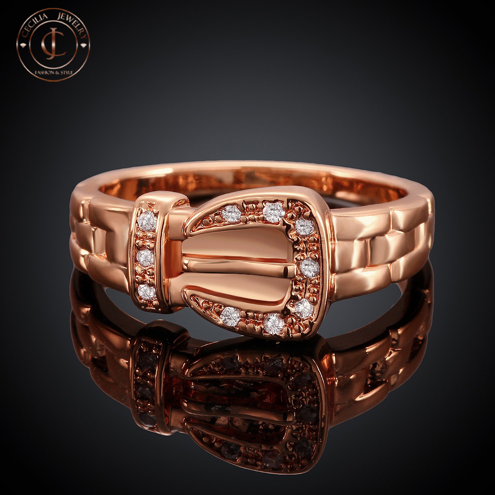 Elegant Women Ring Rose Gold Plated Top Quality Brassed Bow shape Ring(China (Mainland))