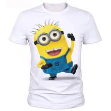 Ropa de verano los hombres tshirt despicable minions camiseta de impresión 3d de dibujos animados de caracteres camisetas tee tops se pueden personalizar 2-20 #(China (Mainland))