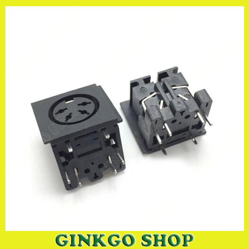 500pcs/lot 90 Degree PS2 S Terminal Female DIN 4 Cord 4-Pins Sockect<br><br>Aliexpress