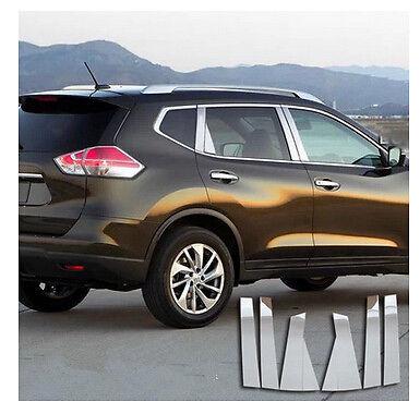 Stainless Steel Window Pillar Posts trim 6pcs for Nissan Rogue X-Trail 2014 2015<br><br>Aliexpress