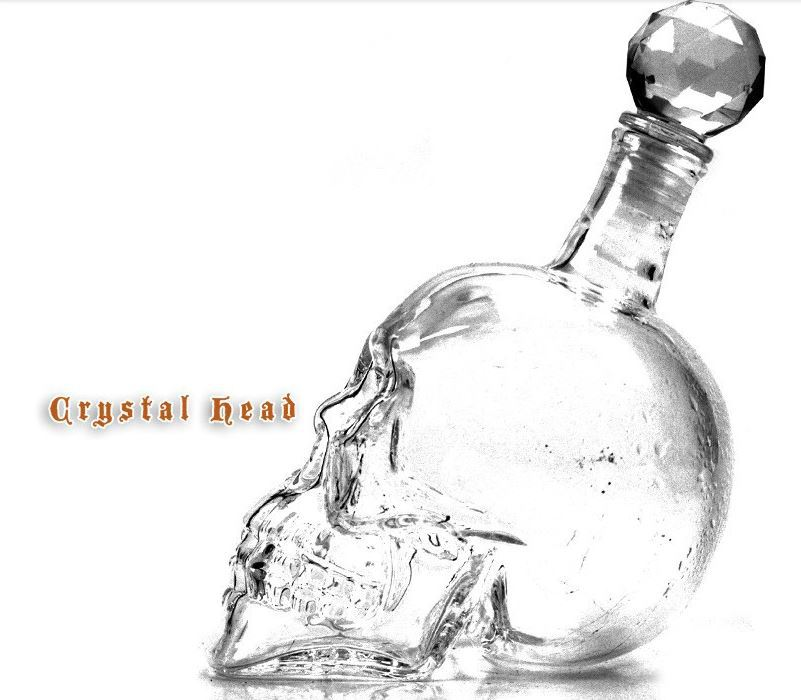 Set of1 pc Crystal Head Vodka Skull Bottle 500ml+4pcs Doomed skull head Shot Glasses 75ml(China (Mainland))