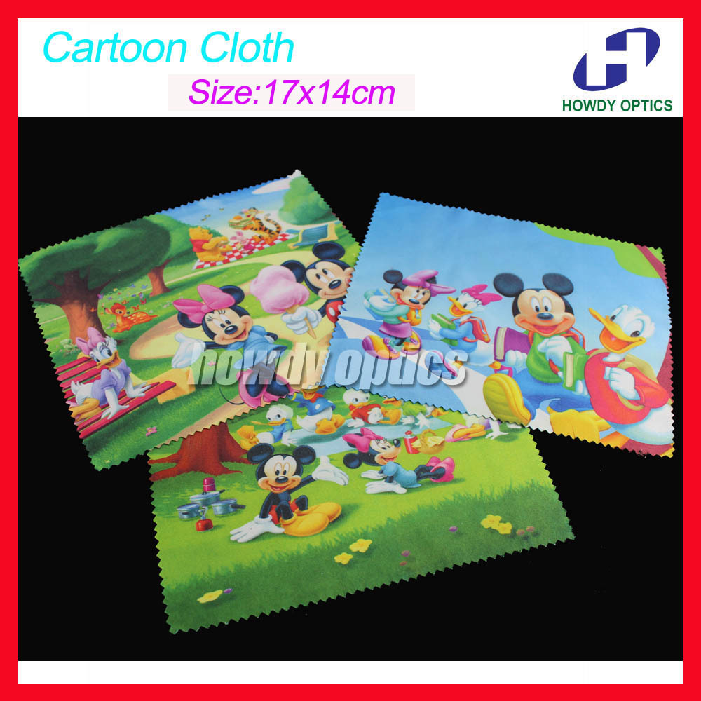 Cartoon Glasses Cleaning Cloth