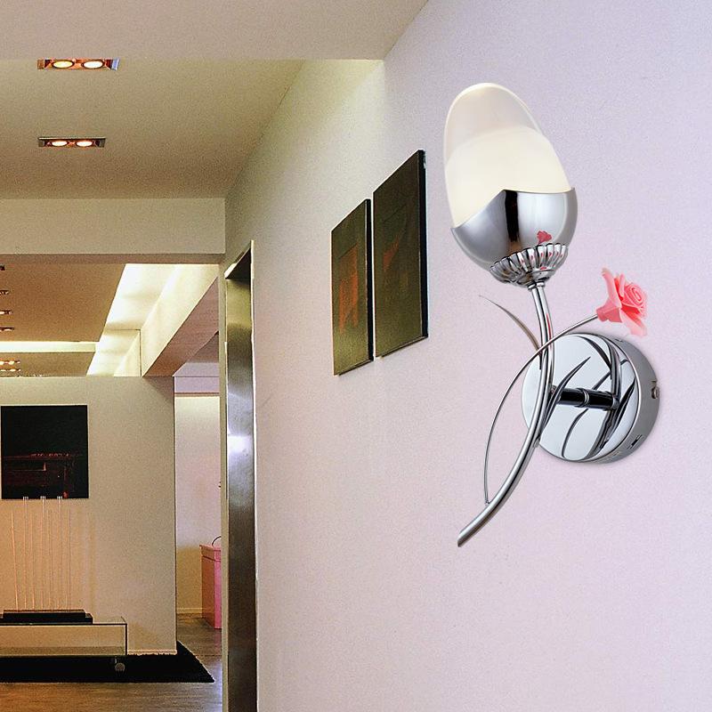 led wall light simple modern crystal LED acrylic wall lamp study bedroom living room dining lamp lighting B91(China (Mainland))