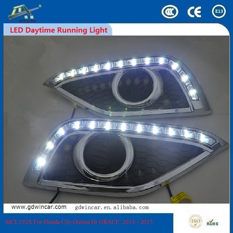 For Honda CRV  2012 - 2015  China Supply 12V Top Quality High Power LED Auto Daylight Car Light  LED Daytime Running Light