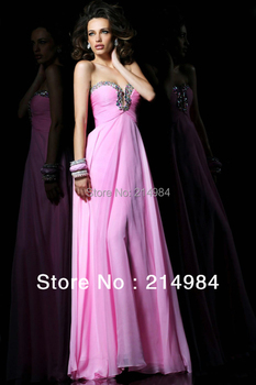Few Piece In Stock Sale Promotion Sexy Pink Silk Chiffon Long Formal Evening Dress  2015 Free Shipping