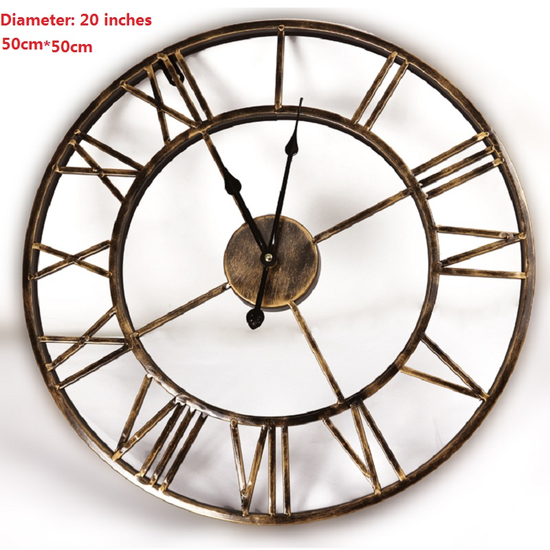 Buy 20inches diy vintage 3d large wall Oversized metal wall clocks