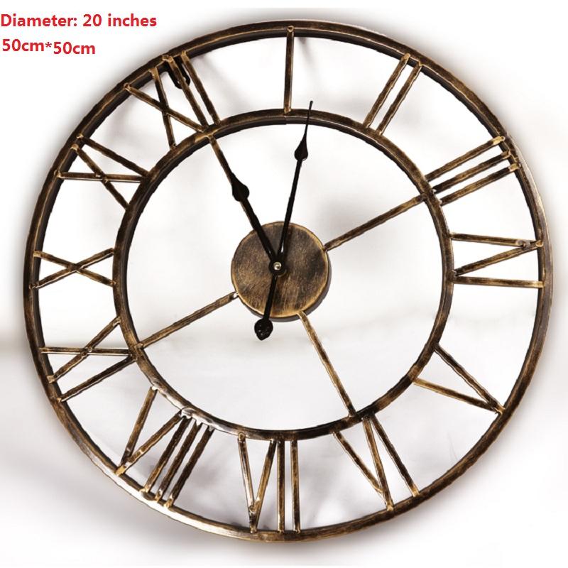 Achetez en gros forg mur de fer horloge en ligne des for Horloge en fer forge noir