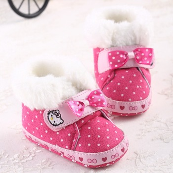 new winter baby fleece Snow Boots Woolen Yam newborn Fur Knit Shoes baby boots free shipping