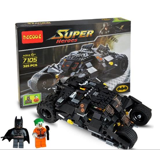 Decool 7105 30Pcs Building Blocks Super Heroes Avengers Joker Batman Tumbler Batmobile Batwing MiniFigures Bricks Blocks Toys