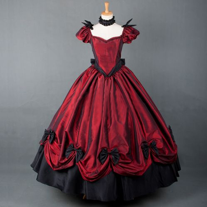 plus size american retro victorian lolita dress party