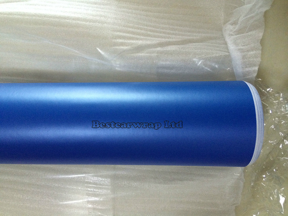 Pearl Blue matt vinyl car wrap film 3m satin pearl wrap (2)