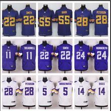 2016 Rush Limited Men's Minnesota Vikings 5# Teddy Bridgewater Purple Color Top Quality,camouflage(China (Mainland))