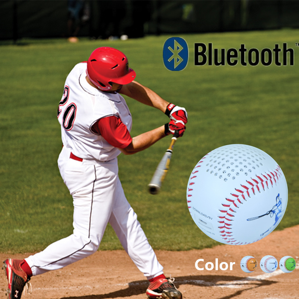 Bluetoot Speaker Baseball wireless music video audio Player 600mAh TF card USB line in Roly Poly Phone home theater Mini(China (Mainland))