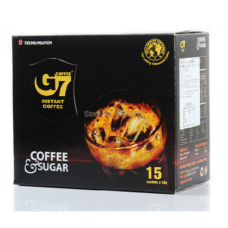Central Vietnam imported instant coffee g7 2in1 coffee 240g free shipping