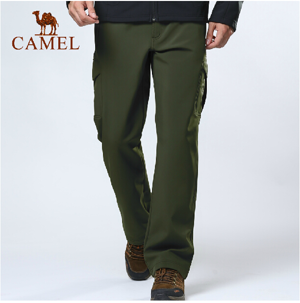 Camel outdoor men soft shell pants breathable windproof soft shell pants hiking pants trousers genuine 3F18009<br><br>Aliexpress