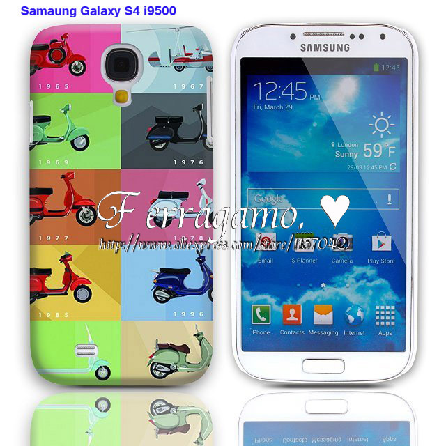 Vintage Colorful Motorcycle Pattern Plastic Hard Back Cover Case for For Samsung Galaxy Note 3 N9006+ free shipping(China (Mainland))