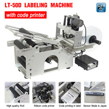 LT-50D Semi automatic Labeling Machine,drugs bottle,medicine bottle labeling machine with date printer,printing labeling machine(China (Mainland))