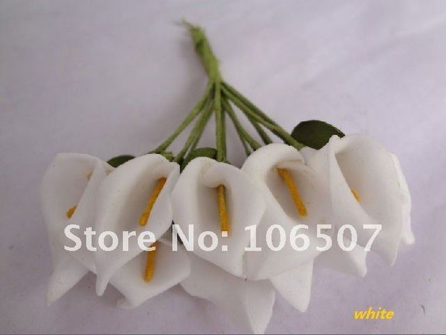 Wholesale and retail Handmade Mini Calla Lily Flower Wedding Favor Decor Scrapbooking(White ,144pcs)--Free shipping