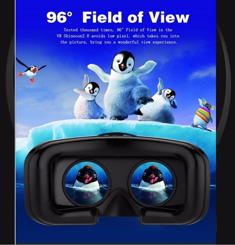 ถูก ใหม่ล่าสุดVR Shinecon II 2 2.0หมวกกันน็อกความเป็นจริงเสมือน3Dกล่องIMAXแว่นตาโรงละครVideoสำหรับ4.7-6นิ้วโทรศัพท์+บลูทูธGamepad
