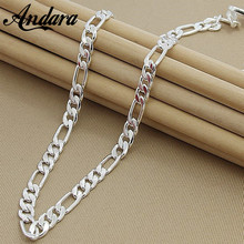 Buy ANDARA 8MM 22'' 55cm Men's Fashion Silver Figaro Chain Necklace Fittings 925 Silver Necklace High Jewelry N187 for $5.30 in AliExpress store