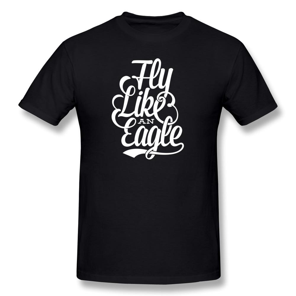Swag Short Sleeve Fly Like An Eagle man t-shirt Cheap Sale Organic Cotton t shirt for Boys(China (Mainland))