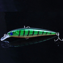 1pc 11cm 13.4gMinnow Fishing lures 6# hooks hard bait pesca fish isca artificial fishing tackle wobbler swimbait free shipping