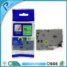 18mm black on green laminated TZ label tape TZ-741 for PT-9700pc
