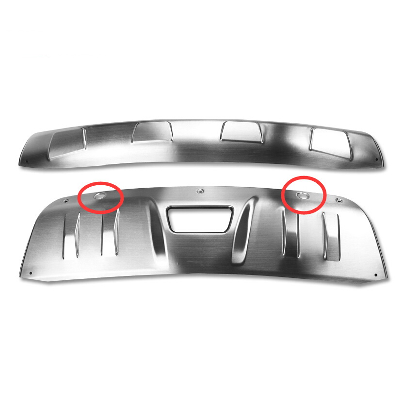2 PCS DIY car styling New stainless steel front and rear bumper guards cover case for 2014 Nissan X-Trail parts accessories<br><br>Aliexpress