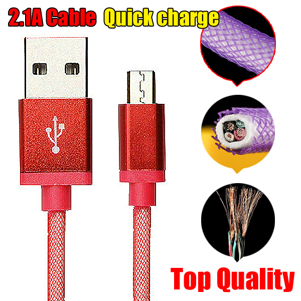 Hot! micro usb cable 1m net aluminum alloy mini usb cable,micro usb charger for Galaxy Note 4 S4 cables,cable micro usb,microusb()