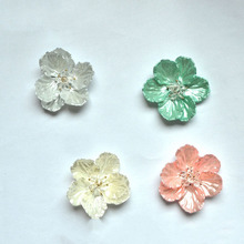 Pair /lot Approx 6cm Artificial Flower Head Home/Hat/Shoes Decoration Accessories Frosted Shoe Charms DIY Party Supplies(China (Mainland))