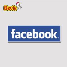 Buy Bevle 1226 FB Website LOGO Notebook 3M Sticker Waterproof Laptop Luggage Fridge Skateboard Car Graffiti Cartoon Tide Sticker for $1.50 in AliExpress store
