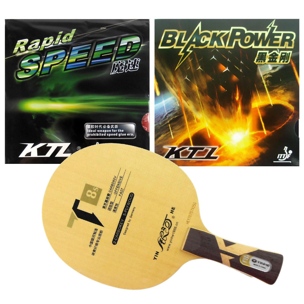Galaxy T8s Table Tennis Blade With KTL Rapid Speed and BlackPower Rubber With Sponge for a Ping Pong Racket(China (Mainland))