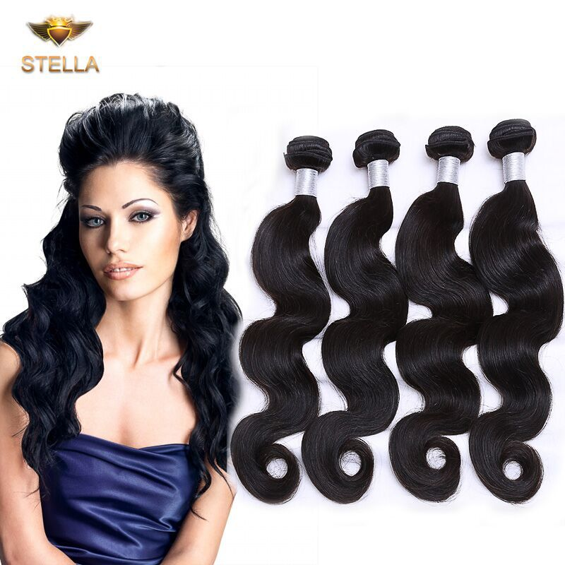 Prom Queen Hair Products 4Pcs Lot Brazilian Bodywave Virgin Hair Grade 6A 100% Brazilian Human Hair Weave Bundles Free Shipping