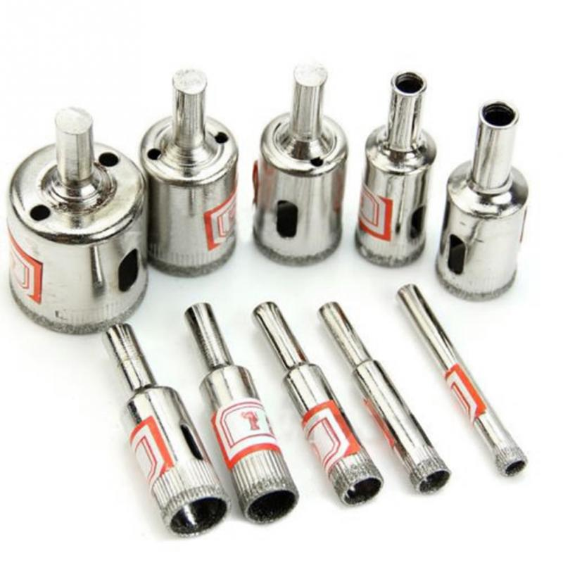 Hot 10 Kinds Diamond Drill Bits Coated Galvanized Hole Drill Bit Set Tools For Tiles Marble Glass<br><br>Aliexpress