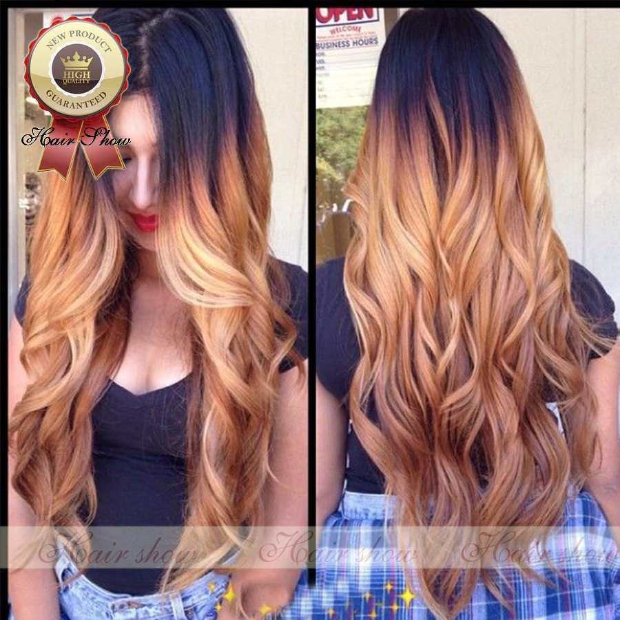 2016 Hot Selling Blonde Ombre Glueless Full Lace Human Hair Wigs Brazilian Body Wave Ombre Lace Front U Part Wig With Baby Hair<br><br>Aliexpress