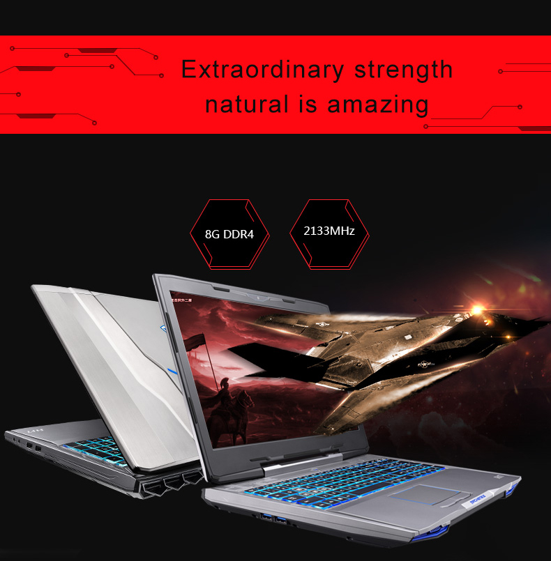 "HTB1cmlVQpXXXXcKXpXXq6xXFXXX7 - Machenike F117-F6K Gaming Laptop Notebook 15.6"" Intel Core i7-7700HQ GTX1060 6GB Video Memory 8GB RAM 256GB SSD Backlit Keyboard"