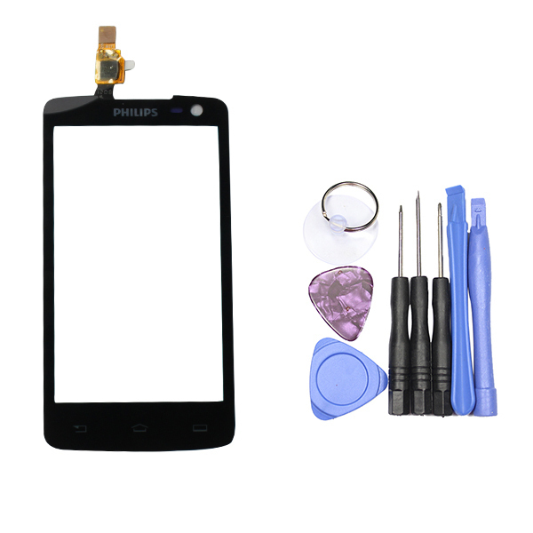 White color - OGS - 4.3'' HD Glass sensor panel Capacitive Touch Screen For Philips Xenium W732 smartphone touchpad + free tools(China (Mainland))