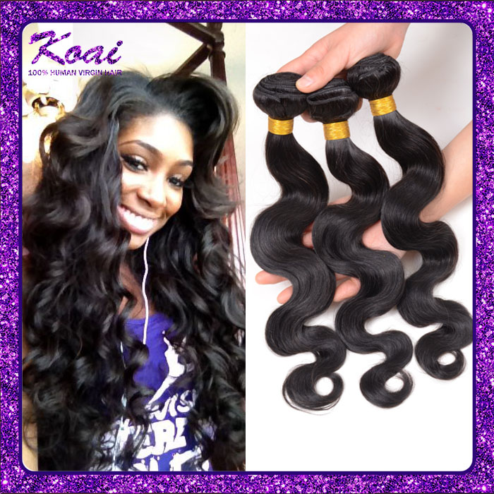Brazilian Virgin Hair Body Wave 50g/pc Natural Black Cheap Human Hair Brazilian Hair Weave Bundles Brazilian Body Wave(China (Mainland))