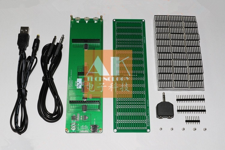 16 level LED Audio Spectrum indicator display Board Speed Adjustable With AGC Mode kits(China (Mainland))
