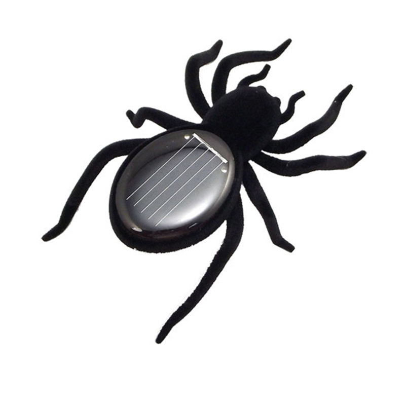 Spider Solar Toy Black Juguetes Solares Spider Tarantula Gadget Juegos Solares Solar Powered Toy For Children Educational Gift(China (Mainland))