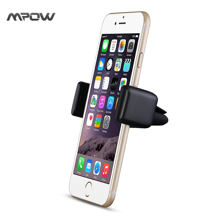 MCM14 Mpow BLACK Portable Simple Exquisite Car Phone Holder 360 Rotation Car Mount for iPhone SE 6/6S Kickstand Free Shiiping(China (Mainland))