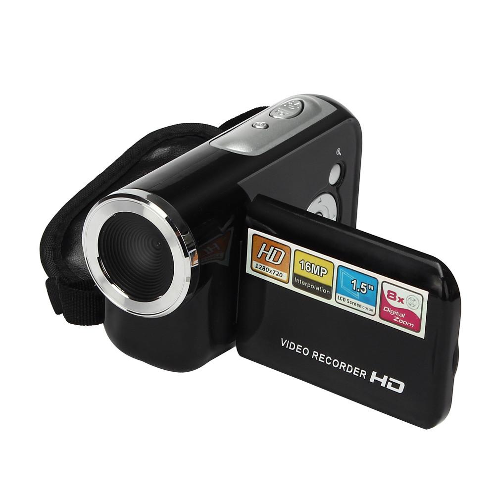 "New Hot 1.5"" TFT LCD 16MP HD 720P Digital Video Camcorder Camera 8x Digital ZOOM cheap mini DV Black Free shipping(China (Mainland))"
