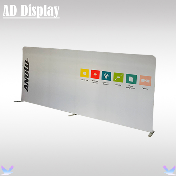 16.5ft*8ft High Quality Straight Tension Fabric Media Backdrop Wall Advertising Display Banner Stand With Single Side Printing(China (Mainland))