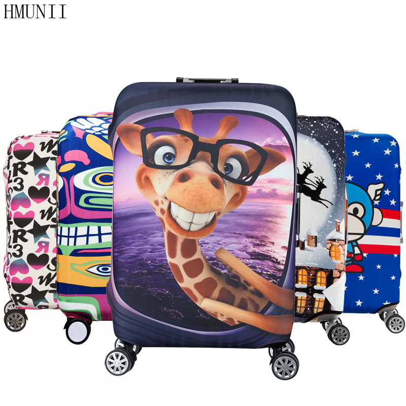 HMUNII Elastic Luggage Protective Cover For 19-32 inch Trolley Suitcase Protect Dust Bag Case Child Cartoon Travel Accessories(China (Mainland))